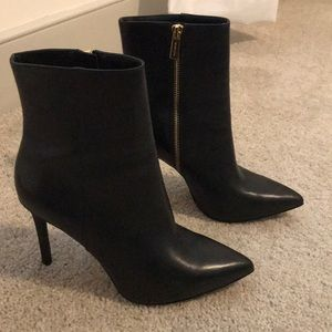 Michael Kors Black leather high heel bootie